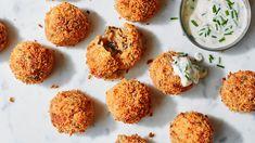 Image: Vegan arancini risotto balls with roasted garlic dip recipe
