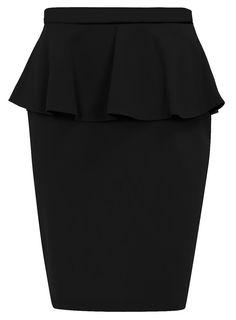 H & M Peplum Pencil Skirt | Very stylish black peplum skirt made of really flattering material.