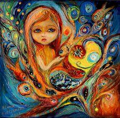 "Saatchi Art Artist: Elena Kotliarker; Acrylic 2013 Painting ""My little Mermaid Betsy"""