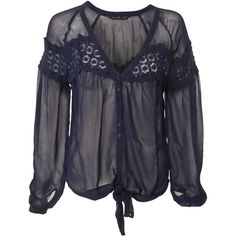 Miso Lace Tie Front Blouse and other apparel, accessories and trends. Browse and shop 21 related looks.