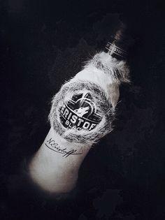 Eristoff black vodka fur coat PD