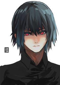 Tokyo Ghoul Ayato K. Credits to the artist Kaneki, Hot Anime Boy, Anime Guys, Ayato Kirishima, Ken Tokyo Ghoul, Fan Art, Image Manga, Anime Manga, Otaku