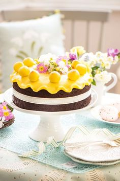 We can't wait to have some simnel cake this Easter - I hope ours turns out as well as this! Mini Egg Recipes, Easter Recipes, Sweet Recipes, Cake Recipes, Easter Treats, Easter Cake, Easter Bunny, Box Cake, Cake Tins