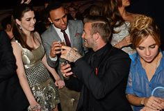 Pin for Later: These Celebs Are as Excited About Meeting David Beckham as We Would Be Bee Shaffer and Lewis Hamilton Suki Waterhouse is less bothered.