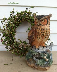 Vintage Lefton China Owl by InQuotations on Etsy, $5.00