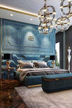 The combination of the gorgeous emerald tone of the walls and upholstery pairs beautifully with its golden shade. There's a reason these guys are in our top 5 interior designers on instagram list. Click to see the rest! #insplosion #luxuryinteriors #russianinteriordesign #interiordecor Modern Luxury Bedroom, Luxury Bedroom Design, Bedroom Furniture Design, Luxurious Bedrooms, Bathroom Interior Design, Luxury Furniture, Bedroom Decor, Luxury Homes Interior, Best Interior