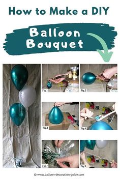 Learn how to make a balloon bouquet in a few simple steps. These floating, elegant centerpieces look great as table decorations for anniversaries, weddings or birthdays. Find more DIY decor ideas with step-by-step instructions at Balloon Decoration Guide. #partyideas #balloonguide Balloon Decorations, Balloon Centerpieces, Birthday Decorations, Table Decorations, Elegant Centerpieces, Wedding Table Centerpieces, Balloon Bouquet, How To Make Diy, Balloons