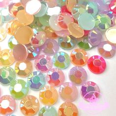200 pcs Jelly Resin Rhinestone 5mm Flat back Mixed color AB Phone Decor   AmazingDIY Color ca7dbffbbde0