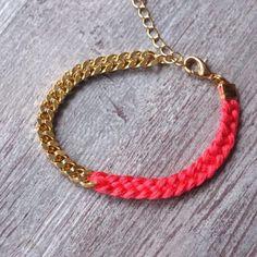 bracelet tressé et chaine dorée  : Bracelet par benoite-et-camille sur ALittleMarket