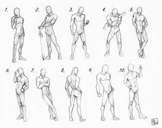 Позы мужчин и женьшин в аниме - Рисование - Манга, аниме