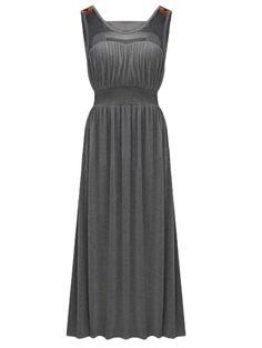 Pretty gauze patchwork sleeveless solid wrap dress MK-2206
