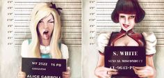 Featured Image for Fairytale Mugshots! Female children's story characters FINALLY get busted