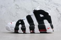Genuine Mens and Womens Nike Air More Uptempo Scottie Pippen PE White  Black-Varsity Red 0527c4ddf10b
