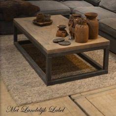 salontafel Esmee Wood And Metal, Table, Living Room, Furniture, Home Decor, Decoration, Mesas, Home, Blue Prints