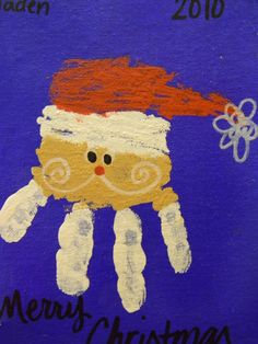 Christmas handprint