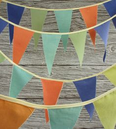 Wilderness Pennant Flag Garland by Wonderful Collective on Scoutmob Shoppe. of pennant in a delightfully festive palette. Kids Party Venues, Party Ideas, Wedding Bunting, Pennant Flags, Arts And Crafts, Diy Crafts, Bunting Garland, Graduation Party Decor, Bridal Shower Party