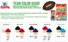 Cupcakes in your team's colors
