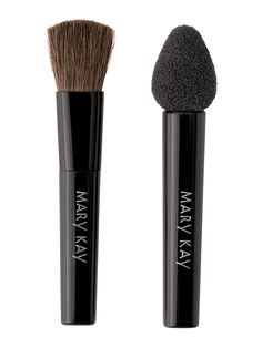 Mary Kay® Eye Applicators - Enjoy perfect application of Mary Kay® Mineral Eye Color every time! This two-in-one pack features the Mary Kay® Eye Brush Applicator  and Mary Kay® Eye Sponge Applicator.