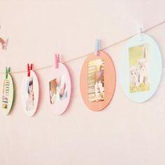circular frame kreative foto-Wand-Foto-Rahmen-Kombination der 6 + farbe clip
