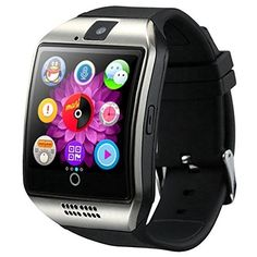 Smart Watch Bluetooth - SODIAL(R) Newest Q18 Smart Watch Bluetooth Smartwatch Phone with Camera TF/SIM Card Slot for Android Samsung Galaxy S7,S6,S5,Note 5,HTC,SONY,Huawei,Google Nexus (Black silver)   * SODIAL is a registered trademark. ONLY Authorized seller of SODIAL can sell under SODIAL listings.Our products will enhance your experience to unparall