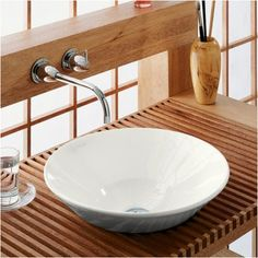 Found it at Wayfair - Conical Bell Vessel Above-Counter or Wall-Mount Bathroom Sink