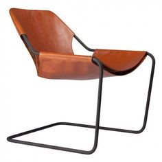Buy the Paulistano Leather Chair Cognac by Paulo Mendes da Rocha and more online today at The Conran Shop, the home of classic and contemporary design Chair Design, Furniture Design, Furniture Chairs, Terracotta, Warehouse Living, Paulistano, Steel Bar, Shop Interiors, Museum Of Modern Art