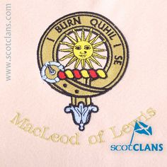 MacLeod of Lewis Custom Embroidery @ScotClans. Free worldwide shipping available.