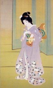 上村松園「舞仕度」1914年