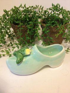 10 DOLLAR SALE Vintage Porcelain Shoe Green by StartathomeVintage, $10.00