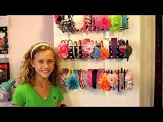 DIY: How to make Hair bow/Bracelet Holder - YouTube