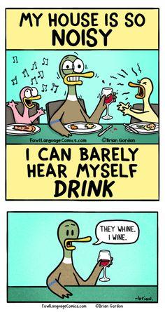 Barely Hear Myself (Fowl Language Comics)