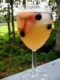 Tea Sangria Summer fruits, sliced thin (I used one white nectarine ...