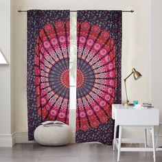 Indian Window Curtains Mandala Door Cover Curtains Bohemian Door Drapes