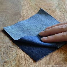 Snip snip! Your old jeans never looked so good.  Things to make out of old jeans
