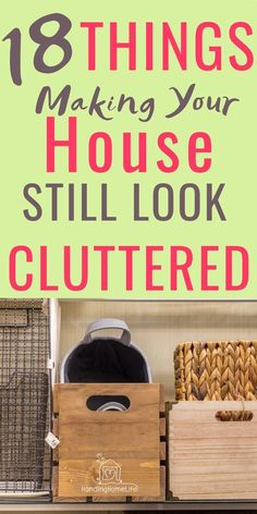 These 18 things are making your house still look cluttered! Declutter your home and organize with these household hacks. Decluttering ideas for a simple clean house. Declutter Home, Declutter Your Life, Organizing Your Home, Organising, Organizing Tips, Declutter Bedroom, Clutter Organization, Home Organization Hacks, Bathroom Organization
