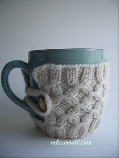 Mug and French Press Jacket — MK Carroll I haven't often wished I knew how to crotchet, but man this looks so cozy..