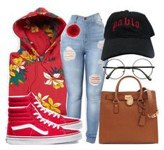 """""""Untitled #134"""" by trillqueen34 on Polyvore featuring OBEY Clothing, Vans, Overland Sheepskin Co. and Michael Kors"""