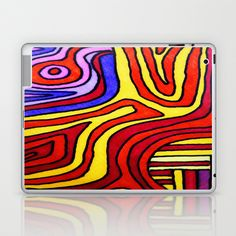 The Psychedelic Musings of a Squid Laptop & iPad Skin by mimulux - $25.00