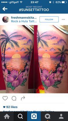 Palm tree sunset island tattoo - Palm tree sunset island tattoo Source by - Hawaii Tattoos, Sunset Tattoos, Ocean Tattoos, Mermaid Tattoos, Mom Tattoos, Cute Tattoos, Beautiful Tattoos, Body Art Tattoos, Tatoos