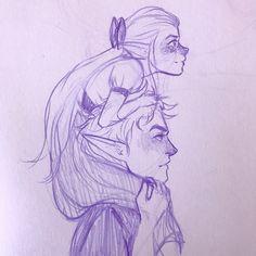 Rowan and daughter by LexaArts. Sarah J Maas. Rowan Whitethorn x Aelin Ashryver Galathynius