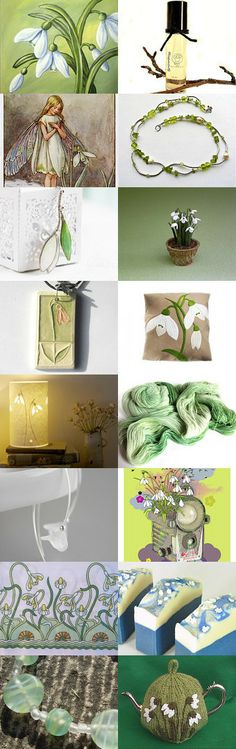 Spring snowdrops by Kirsty on Etsy--Pinned with TreasuryPin.com