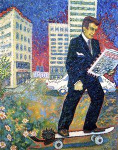 Krzysztof Skarbek - Pewien Lan w drodze do pracyczyta niezbyt ciekawa gazetę