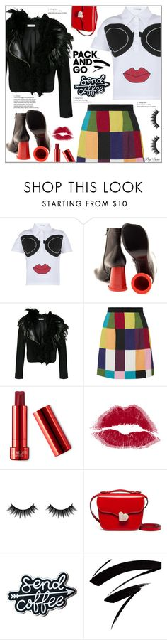 """Pack and go !"" by anne-977 ❤ liked on Polyvore featuring Alice + Olivia, MM6 Maison Margiela, Lanvin, House of Holland, Morphe, Marni, parisfashionweek and Packandgo"