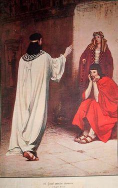 Josef tyder drømmene til to stykker som sitter i fengsel sammen med han, og spådommene hans om drømmenes betydning slår til