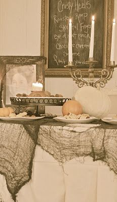 spooky Halloween decor by French Country Cottage