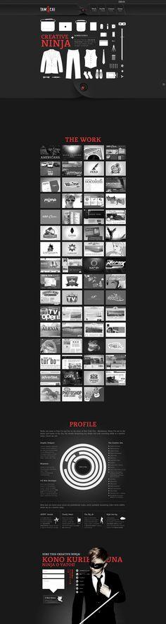 Unique Web Design, Tam Cai #WebDesign #Design (http://www.pinterest.com/aldenchong/)