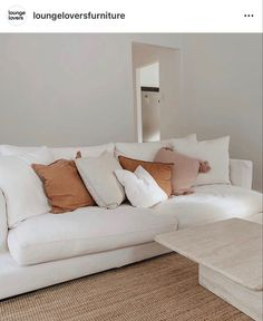 White Sectional, Sectional Sofa, Couch, Beach Sofa, Humble Abode, Home Renovation, My Dream Home, Family Room, Sweet Home