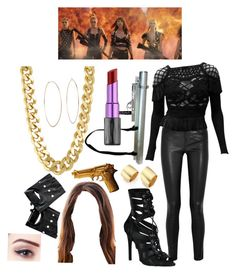 """""""Bad blood outfit!"""" by mariannaok ❤ liked on Polyvore featuring Helmut Lang, Christian Lacroix, Urban Decay, Michael Kors, CC SKYE, Kenneth Jay Lane, ZENTS and Lime Crime"""