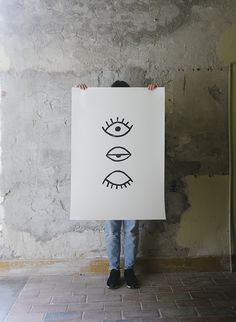 EYE EYE POSTER 70x100 CM, BLACK