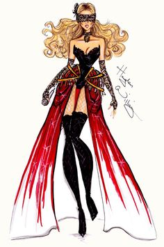 fashionillustr.quenalbertini: Beyoncé Mrs. Carter World Tour collection by Hayden Williams pt4